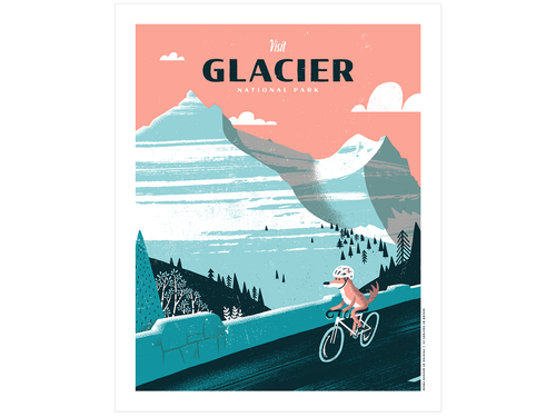 Glacier National Park, Screen Print
