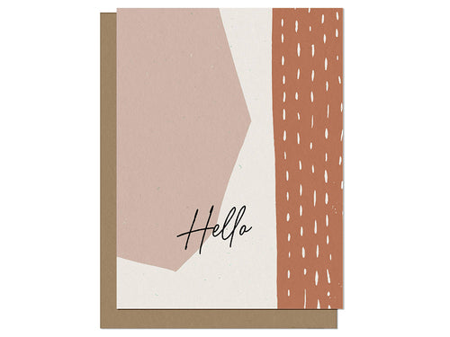 Hello Abstract Shapes, Single Card