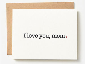 ILY Mom, Single Card
