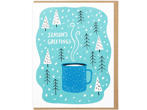 Season's Greetings Enamel Cup, Single Card