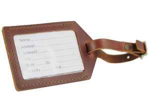 Leather Luggage Tag, various colors