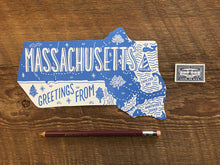 Greetings from Massachusetts Postcard