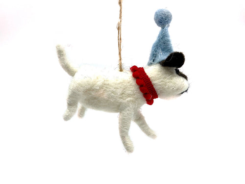 Felt Party Dog Ornament