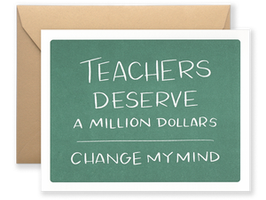 Teachers Deserve, Single Card
