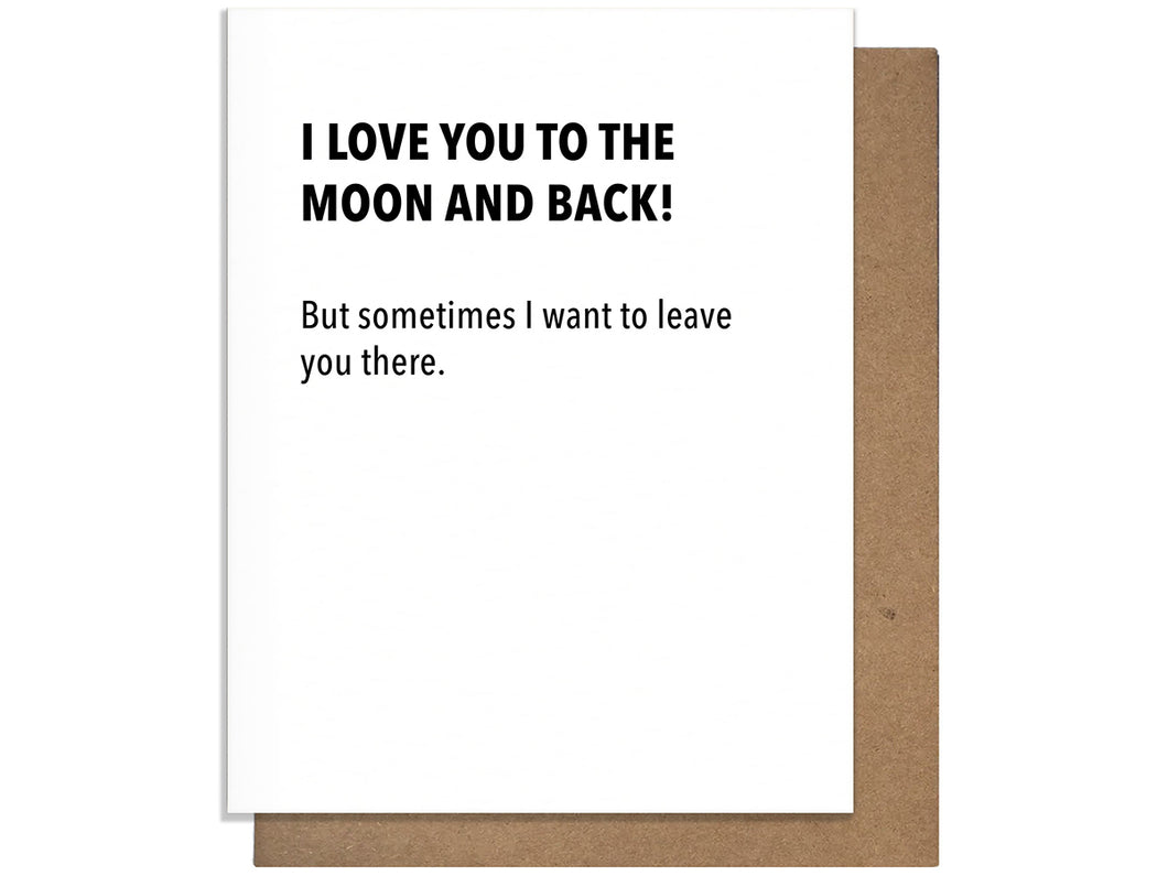 Moon and Back, Single Card