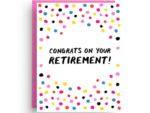 Retirement Congrats, Single Card