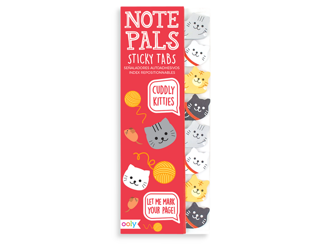 Note Pals Sticky Note Tabs, Cuddly Kitties