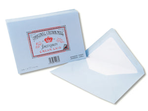 Original Crown Mill Classic Laid Envelopes, Blue, Pack of 25