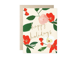 Happy Holidays Floral, Boxed Set of 8