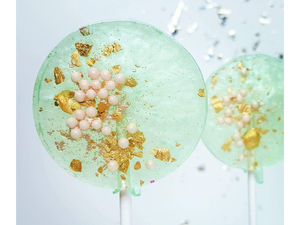 Pear, Sea Foam Green & Pink Lollipops