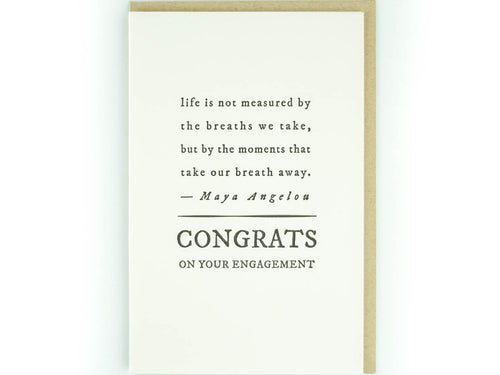 Congrats Engagement, Single Card