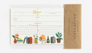 Pack of 12 Kitchen Shelf Recipe Card
