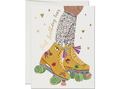 Roller Skate Birthday, Single Card