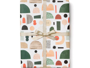 Christmas Shapes Wrapping Paper, Roll