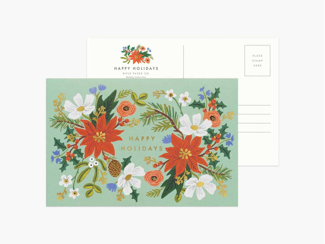 Holiday Floral Postcards, Boxed Set of 10