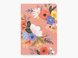 Assorted Set of 3 Lively Floral Notebooks
