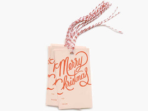 Merry Christmas Gift Tags, Set of 10