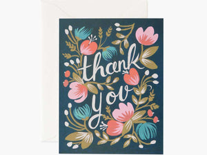 Midnight Garden Thank You Cards, Boxed Set of 8