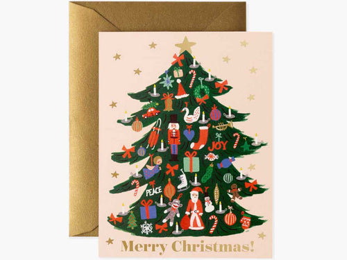 Trimmed Tree Cards, Boxed Set of 8