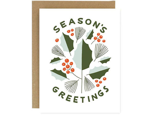 Season's Greetings Holly, Boxed Set of 6