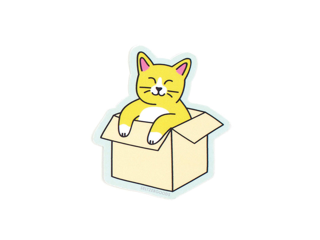 Cat in Box Sticker