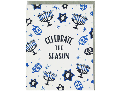 Celebrate The Season Hanukah, Single Card