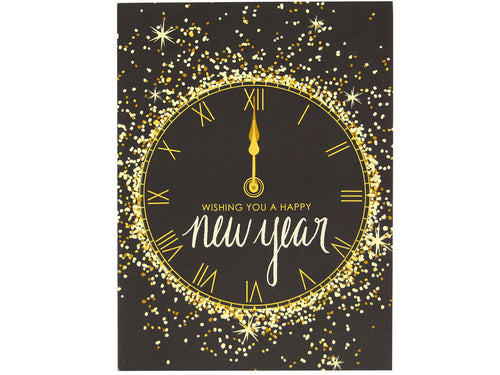 Gold and Glitter New Year, Single Card