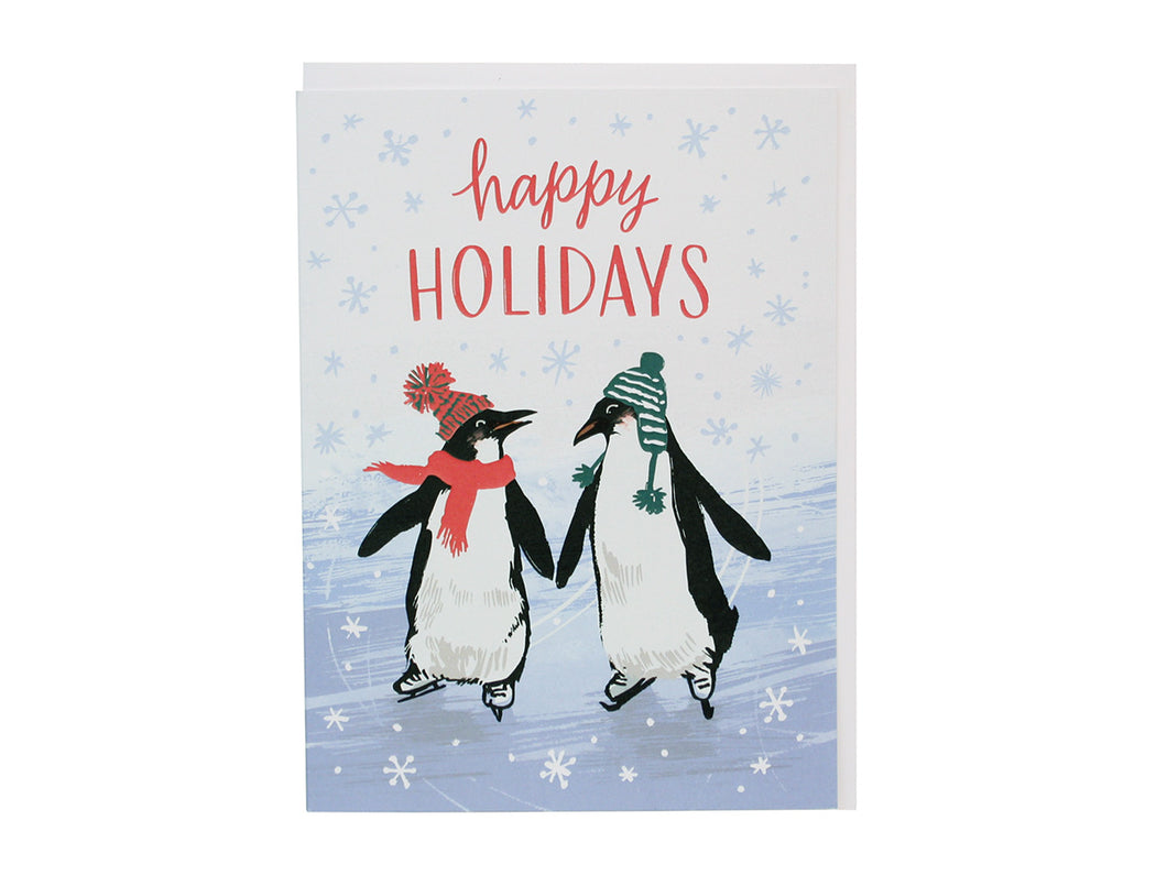 Ice Skating Penguins, Boxed Set of 10
