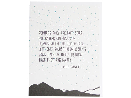Stars in the Sky Sympathy Quote, Single Card
