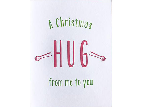 Christmas Hug, Single Card