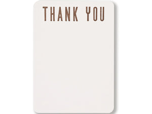 "Thank You ""City"" Flat Notecards, Boxed Set of 8"