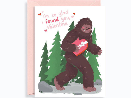 Valentine's Day Bigfoot Found You, Single Card