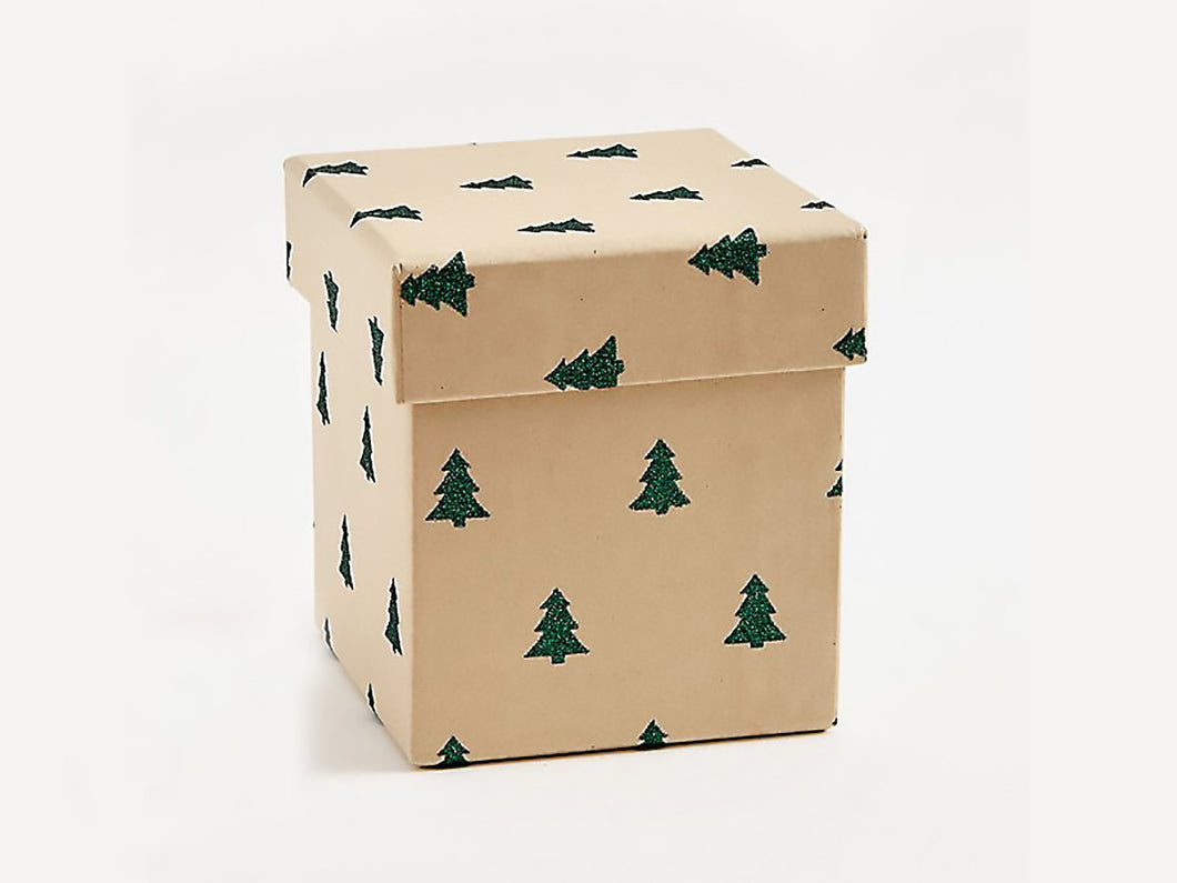Green Glitter Tree, Medium Gift Box