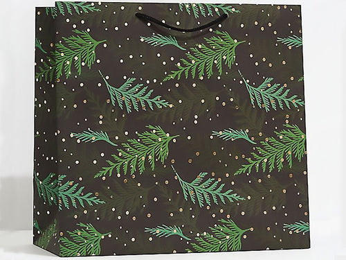 Holiday Cedar Branches, Large Gift Bag