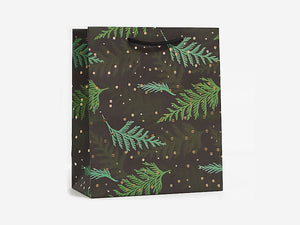 Holiday Cedar Branches, Medium Gift Bag