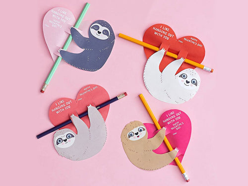 Valentine's Day Sloth Pencil Kit