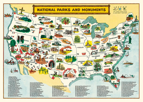 National Parks and Monuments, single sheet, gift wrap