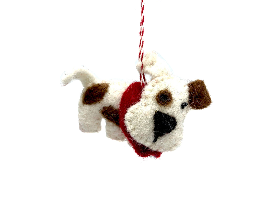 Wool Dog Ornament