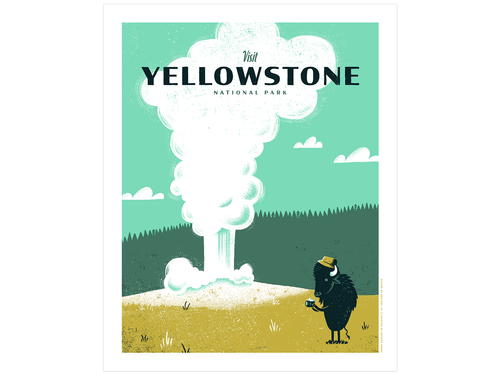 Yellowstone National Park, Screen Print