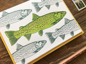 Trout Greeting Card