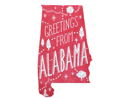 Greetings from Alabama Postcard