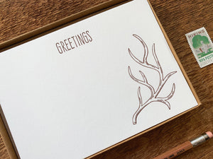 Greetings Antlers Flat Stationery