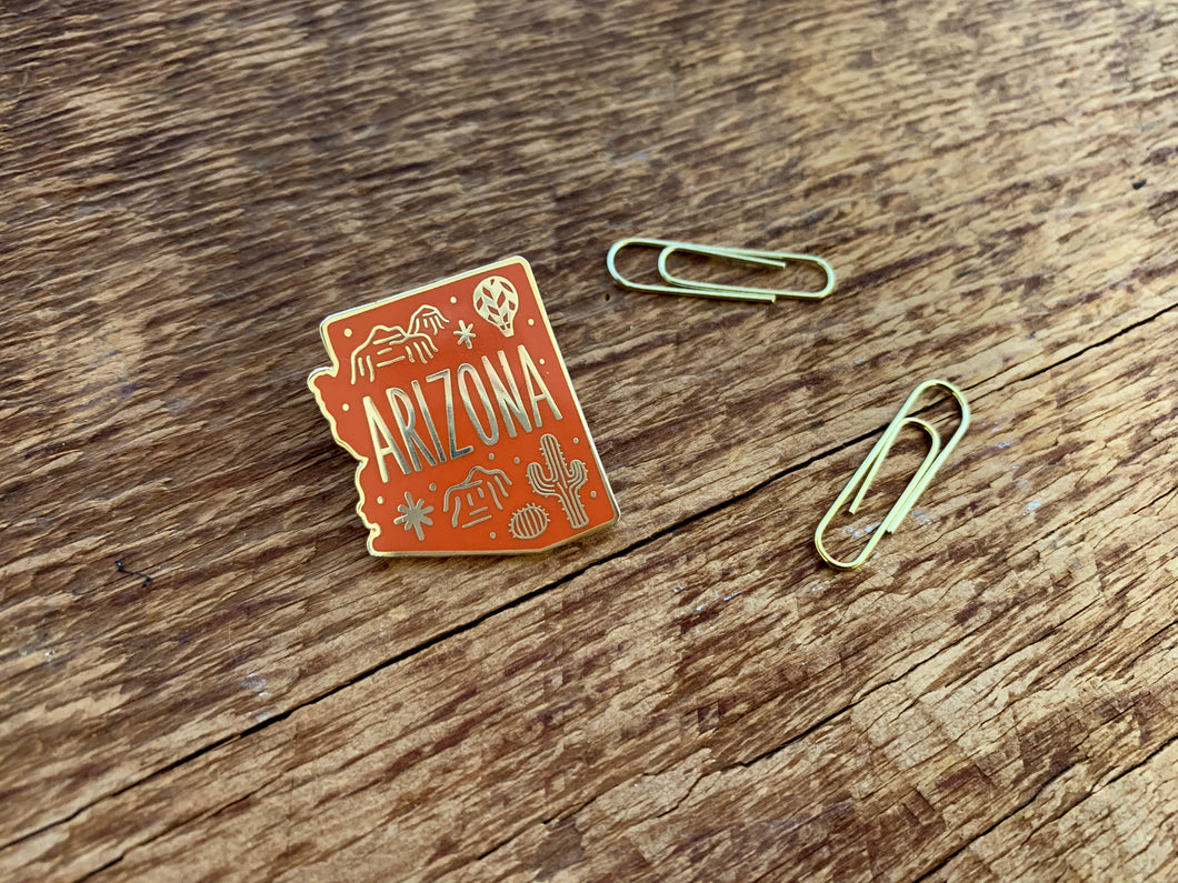 Arizona Enamel Pin