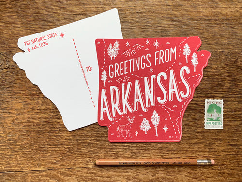 Greetings from Arkansas Postcard