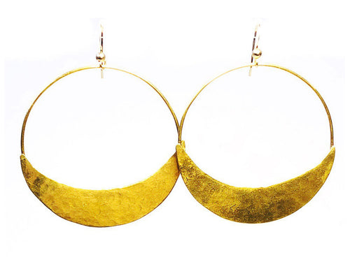 Atzi Hoop Earrings, Brass