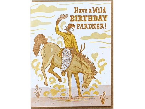 Birthday Pardner Greeting Card