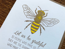 Bee Grateful Greeting Card