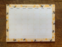 Honey Bees Monthly Desk Planner