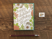 Belated Flora Greeting Card