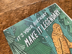 Bigfoot Birthday Greeting Card